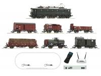 Roco 51323 H0 - z21 Digitalset: Elektrolokomotive BR E 52 mit Güterzug, DRG Ep.II