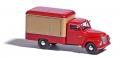 Busch 52002 H0-  Framo V901/2 Kofferwagen, Rot/Beige