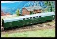 Kühn 41120 TT - Doppelstock-Sitzwagen DBmu, grün, DR, Epoche IV
