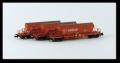Kühn 93034 N - Set 3x , Kaliwagen Taoos 9331, rot, DB Railon, Wagen, Epoche V