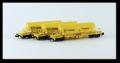 Kühn 93036 N -  Set 3x , Kaliwagen Taoos 9331, gelb, Nacco, Wagen, Epoche V