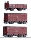 Tillig 01273 H0m - Güterwagenset der NWE / GHE II