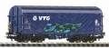 Piko 58965 H0 - Schiebeplanenwagen Shimmns VTG mit Graffiti VI