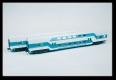 Kühn 91055 N - Doppelstockwagenset mint-grün, DR, Epoche V